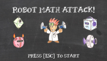 Robot Math Attack (Title Screen)